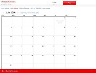 print-a-calendar.com screenshot