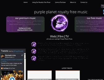 purple-planet.com screenshot