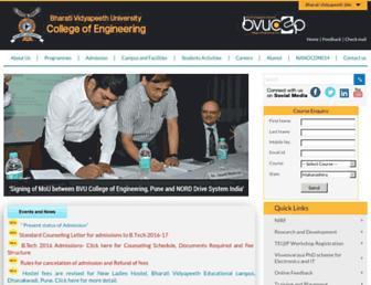 bvucoepune.edu.in screenshot