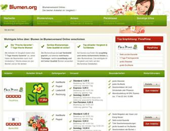 Main page screenshot of blumen.org