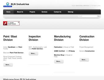 Main page screenshot of rlnindustries.net
