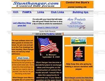 stunthanger.com screenshot