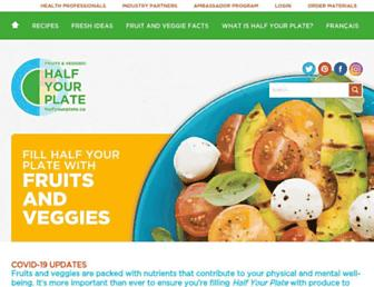 halfyourplate.ca screenshot