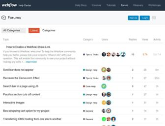 forum.webflow.com screenshot