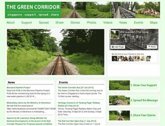 Main page screenshot of thegreencorridor.org