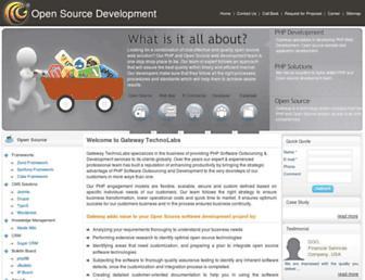 Main page screenshot of offshorephpdevelopment.net