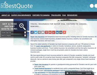 bestquotetravelinsurance.ca screenshot