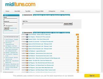 miditune.com screenshot