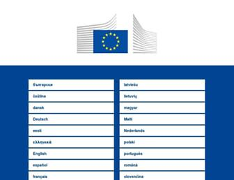 Main page screenshot of ec.europa.eu