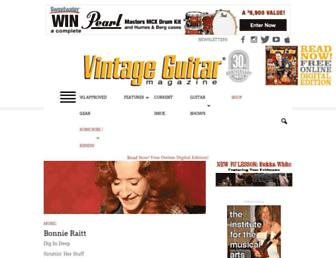 vintageguitar.com screenshot