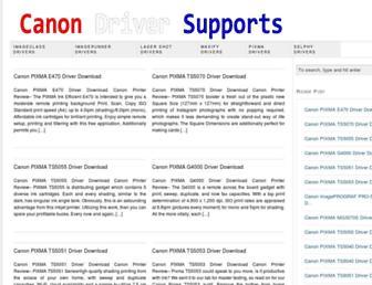 canondriversupports.com screenshot