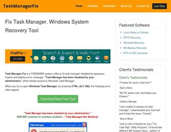 taskmanagerfix.com screenshot