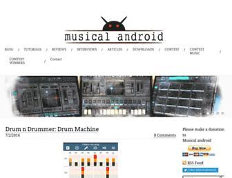 musicalandroid.com screenshot