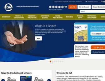 isa.org screenshot