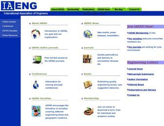 iaeng.org screenshot