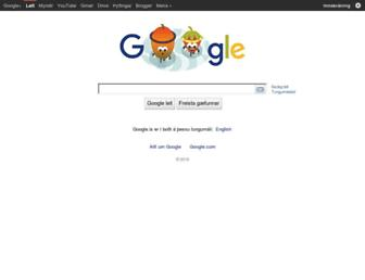 Main page screenshot of google.is