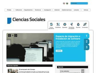 cienciassociales.edu.uy screenshot