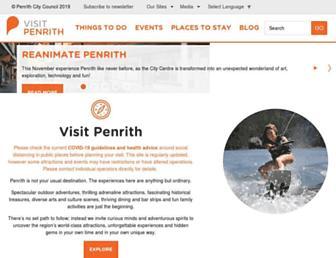 visitpenrith.com.au screenshot