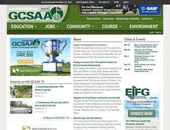 Main page screenshot of gcsaa.org