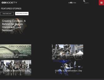 Main page screenshot of cgsociety.org