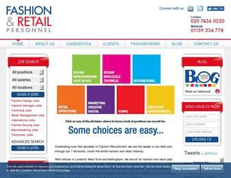 fashionpersonnel.co.uk screenshot