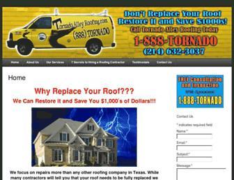 tornadoalleyroofing.com screenshot