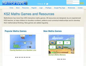 mathsframe.co.uk screenshot