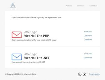 afterlogic.org screenshot