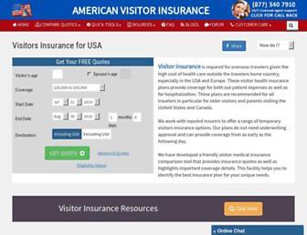 americanvisitorinsurance.com screenshot