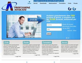 Main page screenshot of professione-avvocato.it