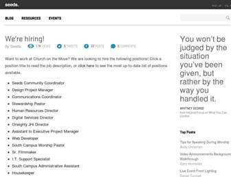 seeds.churchonthemove.com screenshot