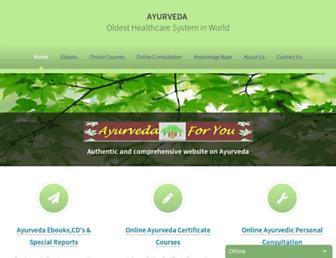 Thumbshot of Ayurveda-foryou.com