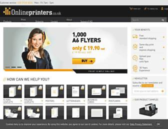 onlineprinters.co.uk screenshot