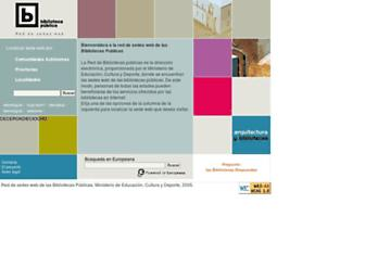 Main page screenshot of bibliotecaspublicas.es