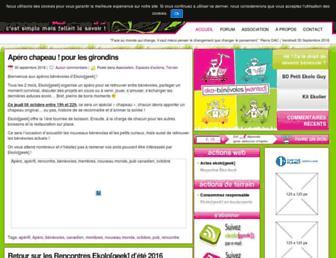 Main page screenshot of ekologeek.org