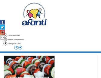 Main page screenshot of afanti.cl