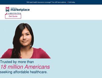 healthcaremarketplace.com screenshot
