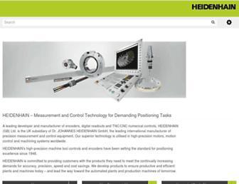 heidenhain.co.uk screenshot