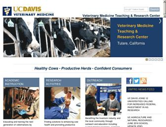 Main page screenshot of vmtrc.ucdavis.edu