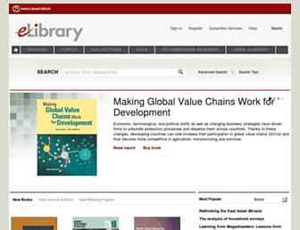 elibrary.worldbank.org screenshot