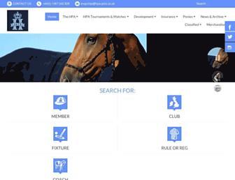 hpa-polo.co.uk screenshot