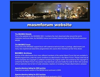 masmforum.com screenshot