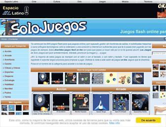 solojuegos.espaciolatino.com screenshot