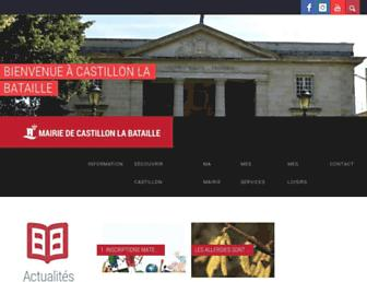 castillonlabataille.fr screenshot