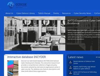 ccdcoe.org screenshot