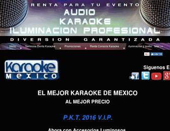 karaokemexico.com.mx screenshot