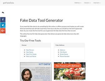 getfakedata.com screenshot