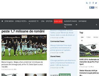 Main page screenshot of paginademedia.ro
