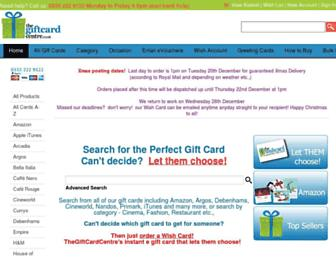 thegiftcardcentre.co.uk screenshot