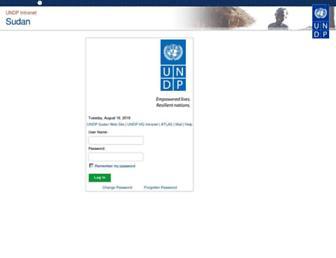intra.sd.undp.org screenshot